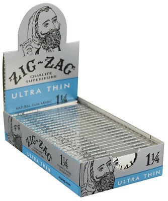 24PK DISPLAY - Zig Zag Ultra Thin 1 1/4 Rolling Papers