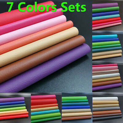 7PCS PU Leather Fabric Faux Leather For Sewing Bag Clothing Sofa Car Material
