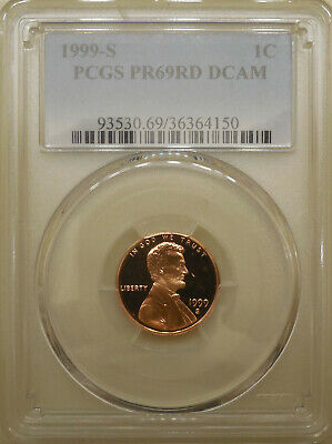 1999-S PCGS PR69DCAM proof Lincoln cent deep cameo red