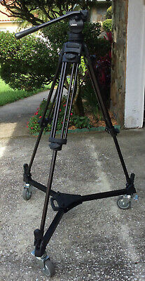 Libec RT30B Tripod with H38B Fluid Head, 1 pan arm, slide plate, DL3RB Dolly