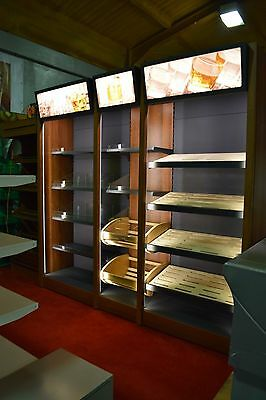 Retail and Shop Shelving, Wall bay,Alcohol Shelves/lights/top quality 2.6M