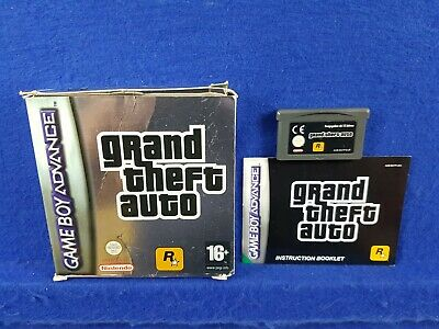 Gameboy Advance GRAND THEFT AUTO Authentic BOXED GBA Region Free PAL UK