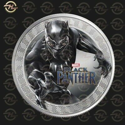 Moneta BLACK PANTHER MARVEL in Argento - SILVER Coin rara Avengers Endgame