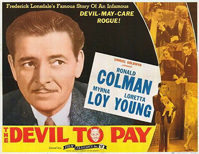 The Devil to Pay! - 1930 - Ronald Coleman Loretta Young Pre-Code Drama DVD