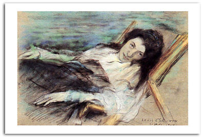 Charlotte Berend On A Stool By Lovis Corinth  Art Print  A2 42 x 60 CM 02631