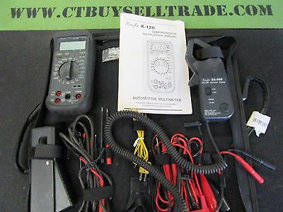 Knight K-128 Automotive Multimeter Kit With Clamp Meter / Pickup Probe With Case