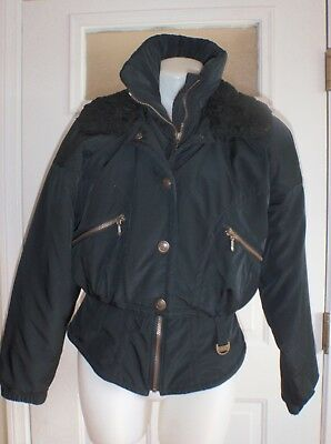 a6310603f222 ... Winter Coat Insulated Parka Fur Lined Collar Large.