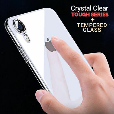 For iPhone XS Max XR X Clear Back Shockproof Bumper Protective Cover Case Slim