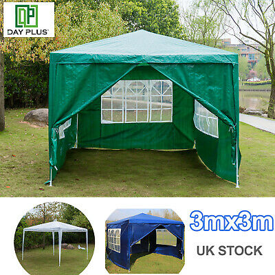 Premier 3X3m Gazebo waterproof 130g PE coating layer Marquee Canopy all sides