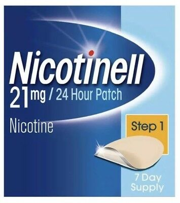 Nicotinell Non Smoking Patch's 21mg/24 Hour Step 1 Patch.      7 Day Supply