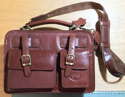 4854a09a33 FRANCINEL Bag - True Italian High Quality Leather - Vintage borsa tracolla  brown