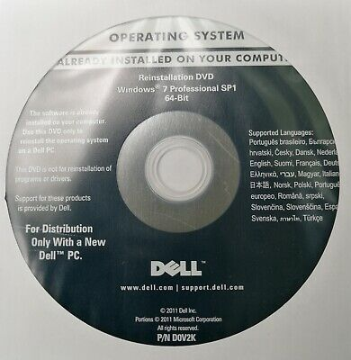 Dell Windows 7 Professional Sp1 64Bit Recovery Dvd