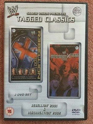 WWE Tagged Classics Rebellion 2001 & Insurrextion 2002 DVD WWF RARE