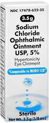 Akorn Sodium Chloride 5 Percentage Ophthalmic Ointment 1/8oz , 3.5gm (PACK OF 3)