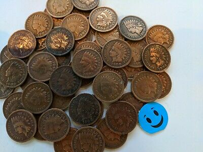 1900's 1c indian head pennies. No 1800's  Lot of 50.