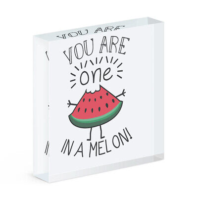 You Are One In A Melon Rectangular Wooden Chopping Board Funny Valentines Day