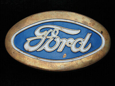 Qk05129 Vintage 1979 **Ford** Motor Company Solid Brass Baron Belt Buckle