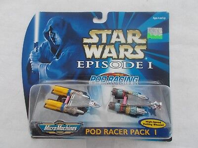 Galoob Micro Machines Star Wars Episode I Pod Racing Pack 1  New In Package 1999