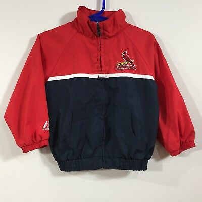Toddler St Louis Cardinals Majestic Windbreaker Jacket Red Blue White 24 Months