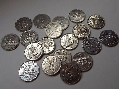🇨🇦 Canada Five Cents Nickel Sale $2.50 Each Coin Mixed Dates + Free Shipping!