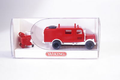 1:87 Wiking 863 01 23 Fire Brigade Lf 8 with Trailer, New
