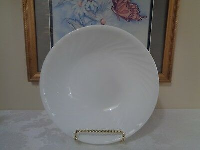 "1 New CORELLE 1 Qt. Enhancements WHITE SWIRL 8.5"" Serving Bowl"