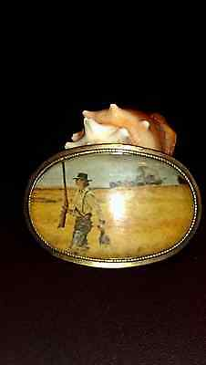 Vintage Rodeo Big Cowboy Western Shine Belt Buckle Texas
