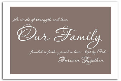 OUR FAMILY TOGETHER Forever Hanging Heart Plaque Gift LPA3 ...