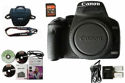 Canon EOS 500D 15.1MP Digital SLR Camera (Body Only) + 8GB