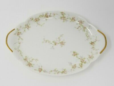 Theodore Haviland Limoges France Platter Gold and Floral