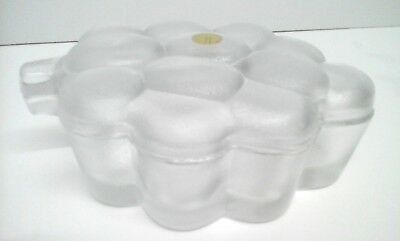 Hoya Corporation - Japan - Frosted Glass Trinket Box - Bunch of Grapes Shaped