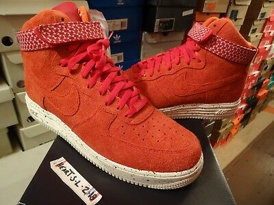 best service 7e0e2 e8875 NEW Nike LUNAR AIR FORCE 1 HI UNDFTD SP UNDEFEATED RED WHITE 652806-660 SZ