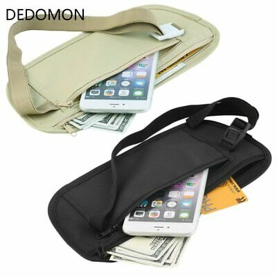 Cloth Waist Bags Travel Pouch Hidden Wallet Belt Bag Slim Secret Useful Packs