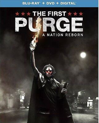 The First Purge(Blu-Ray+Dvd+Digital)W/Slipcover New Unopened