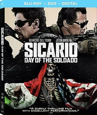 Sicario Day Of The Soldado(Blu-Ray+Dvd+Digital)W/Slipcover New