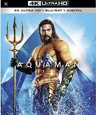 Aquaman(4K Ultra Hd+Blu-Ray+Digital)W/Slipcover New Factory Sealed
