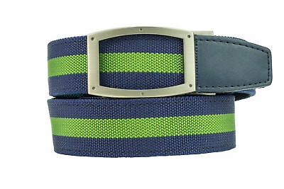Nexbelt Classic Canvas LEATHER Belt Newport CEDAR and SNOW and Admiral