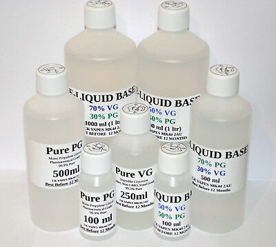 VG PG Vegetable Glycerine  Propylene Glycol DIY PG VG BASE MIX