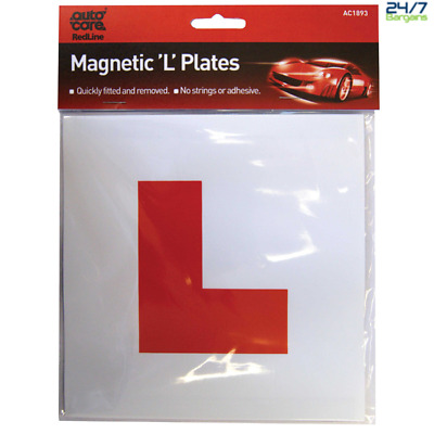 Magnetic L Plate for learner drivers