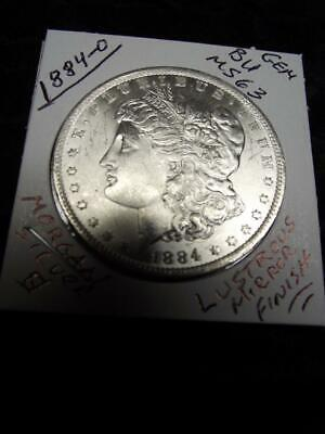 1884-O (GEM BU) Morgan Silver Dollar, LUSTROUS UNCIRCULATED, MIRROR Finish