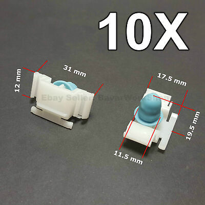 10X Door Fender Moulding Clips Retainers with Rubber Caps for BMW E36 M3, M-tech