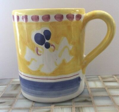 Vietri Pottery-4in. Mug Octopus(Chicken campagna)Made/Painted byhand-Italy NEW