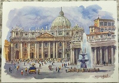 PostCard Of Italy-4,1/2x6,3/4inch-ROMA-printed On Pounded Paper.-MadeInItaly