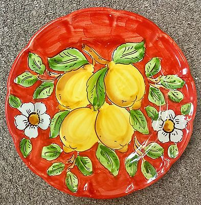 Vietri Pottery-10inch Dinner Plate Lemon Pattern.Made/Painted by hand in Italy
