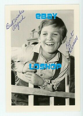 Rare KURT RUSSELL vintage original signed photo AUTOGRAPH Walt Disney child star