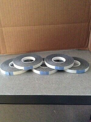"LOT OF 5 ROLLS OF Double-sided Foam Adhesive Tape EACH ROLL 1/4"" wide 12 FT long"
