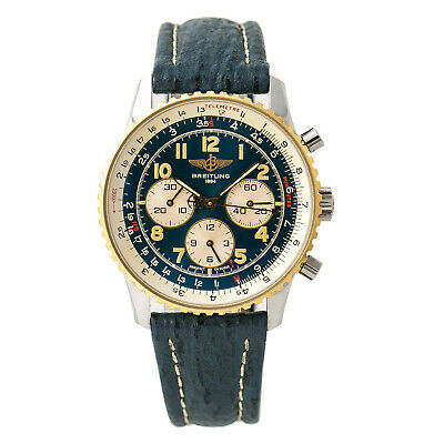 Breitling Navitimer 92 D30022 Mens Automatic Watch Chronograph 18k Two Tone 38mm