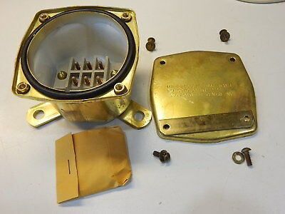 Mil-T-24558/1 Military Submersible Brass Terminal Box 5940-00-351-2222