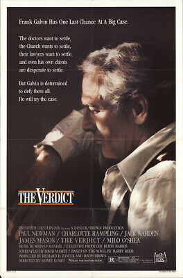 The Verdict 1982 27x41 Orig Movie Poster FFF-54867 Rolled Paul Newman