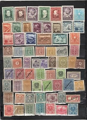 Austria - Lot Of Early Unused Stamps(AUS14}